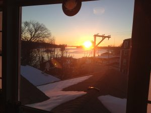 Sunrise at the Blue Hill Center for Yoga